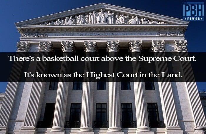 Supreme Court Basketball Court