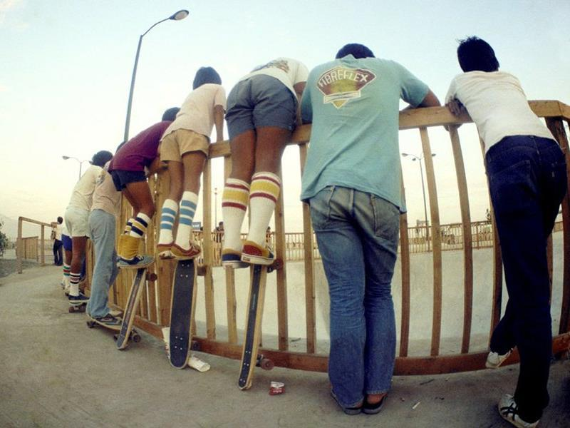 Watching At A Skate Park