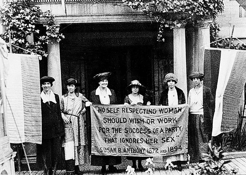 Suffrage Movement Banner