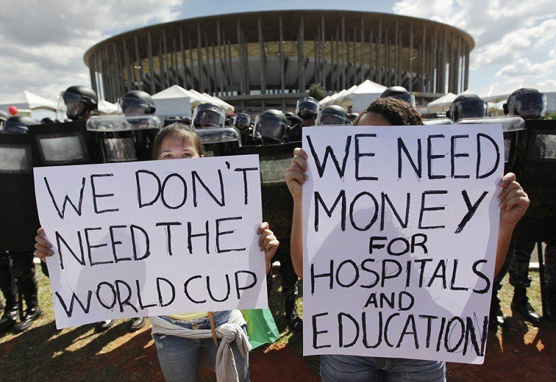 Protests Over 2014 World Cup