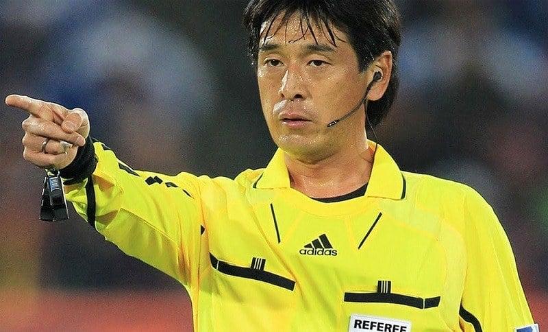 Referee Yuichi Nishimura