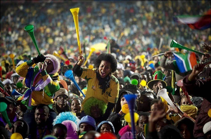 Fans in South America for 2010 World Cup