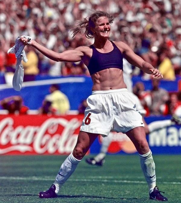 Brandi Chastain in 1999 World Cup