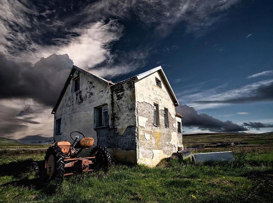 Abandoned Iceland Farmhouse Tractor