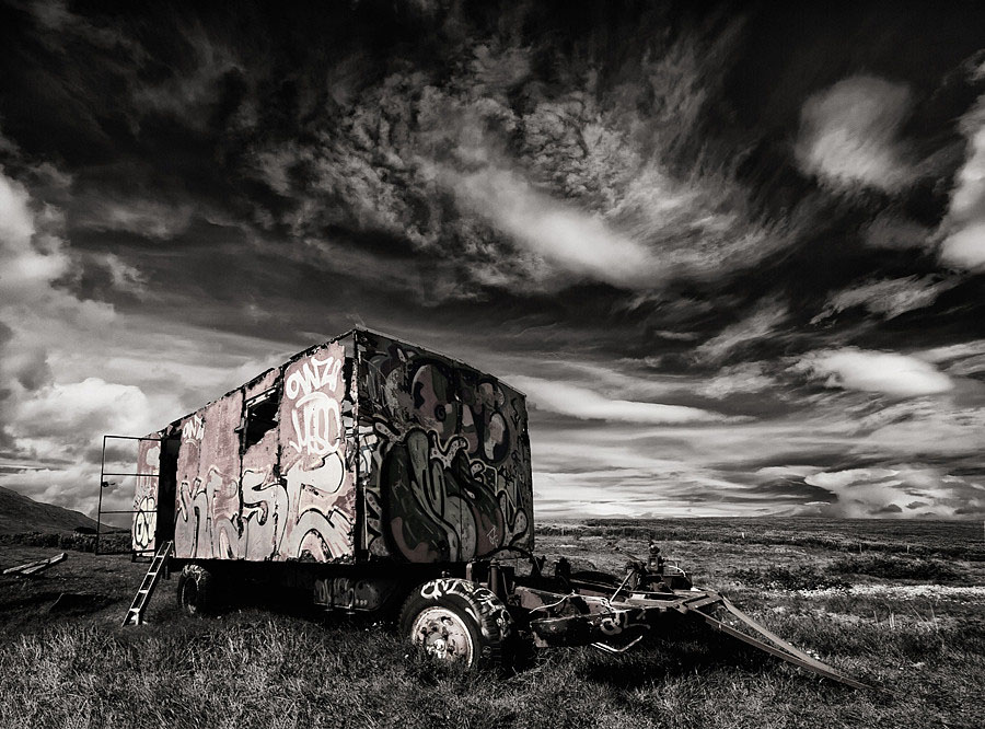 Abandoned Iceland Graffiti Trailer