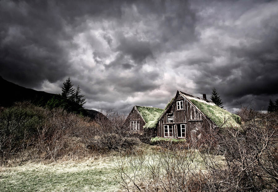 Abandoned Iceland Grass Roofs