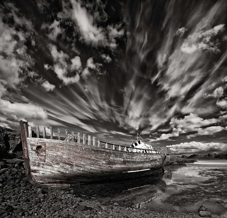Abandoned Iceland Leaning Ship