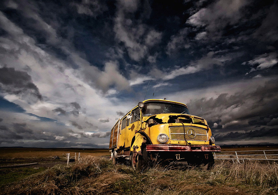 Abandoned Iceland Mercedes Bus