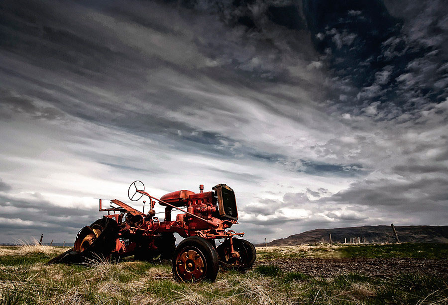 Abandoned Iceland Red Tractor