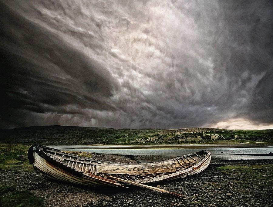 Abandoned Iceland Skeletal Boat