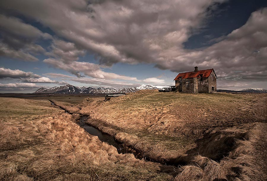 Abandoned Iceland Snowy Creek