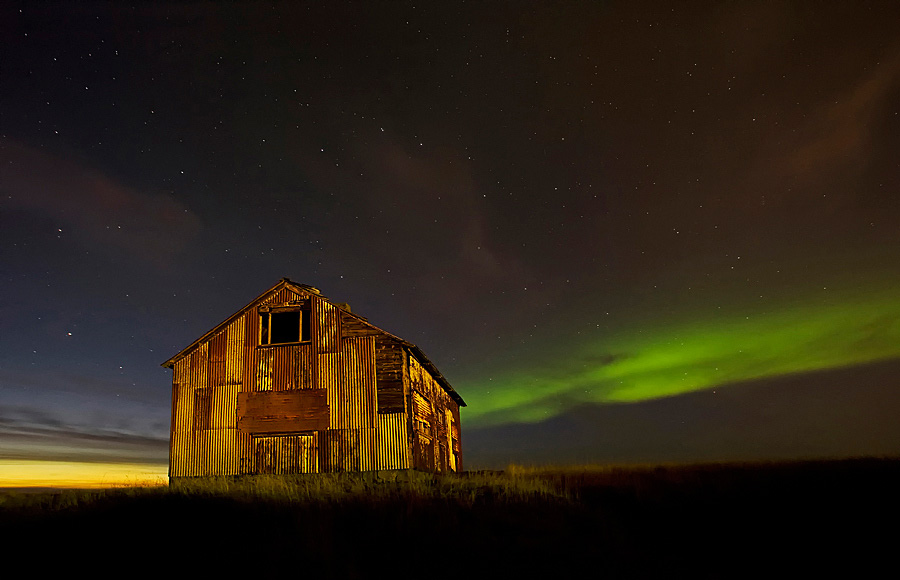 Abandoned Iceland Twilight Barn