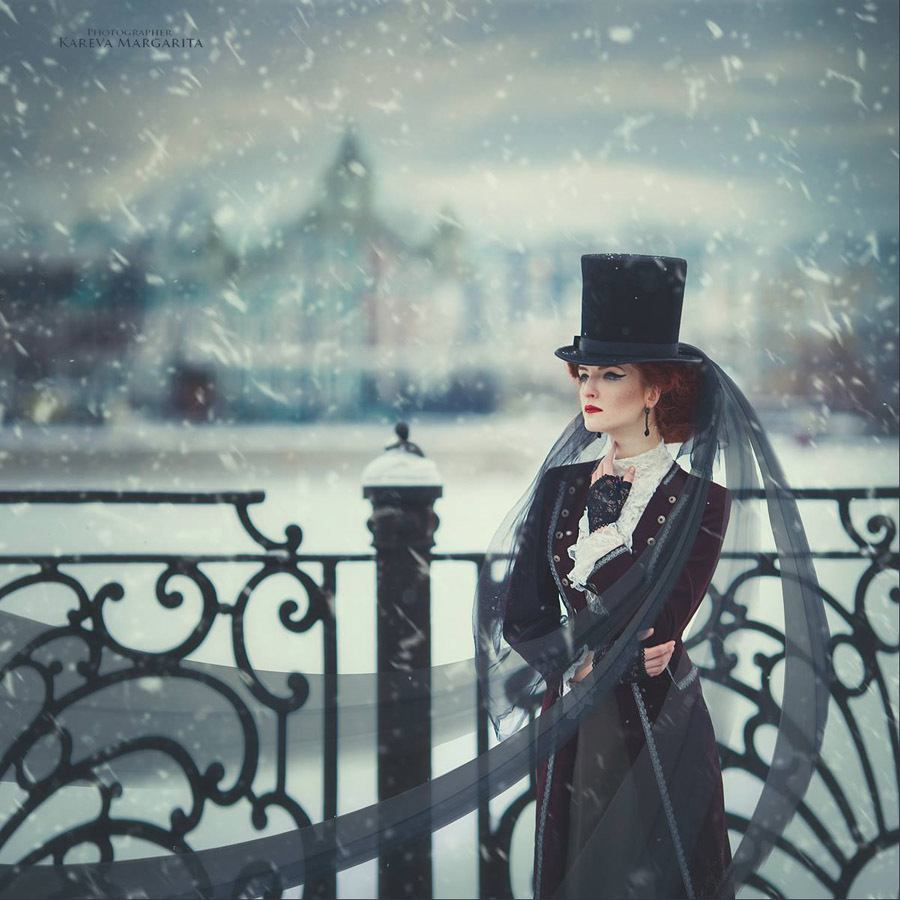 Margarita Kareva Wearing A Top Hat