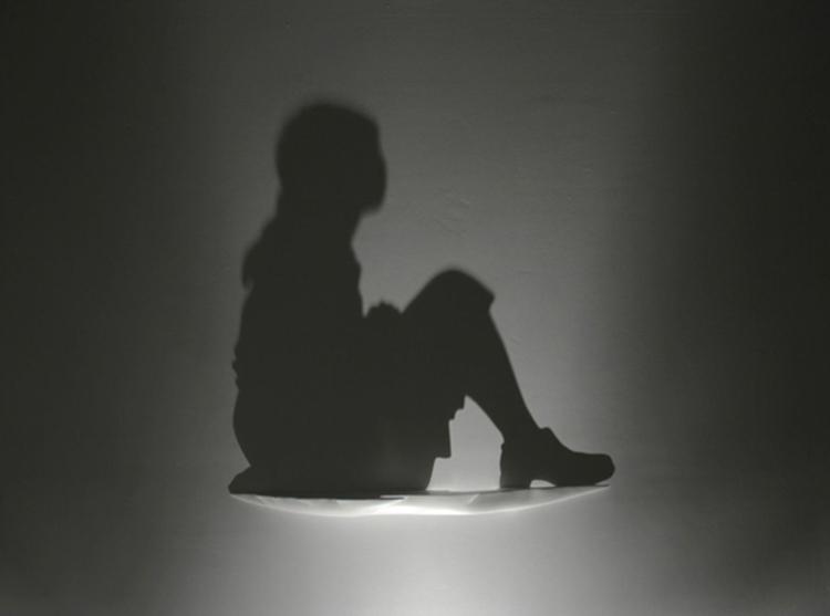 Shadow Art Sitting Girl