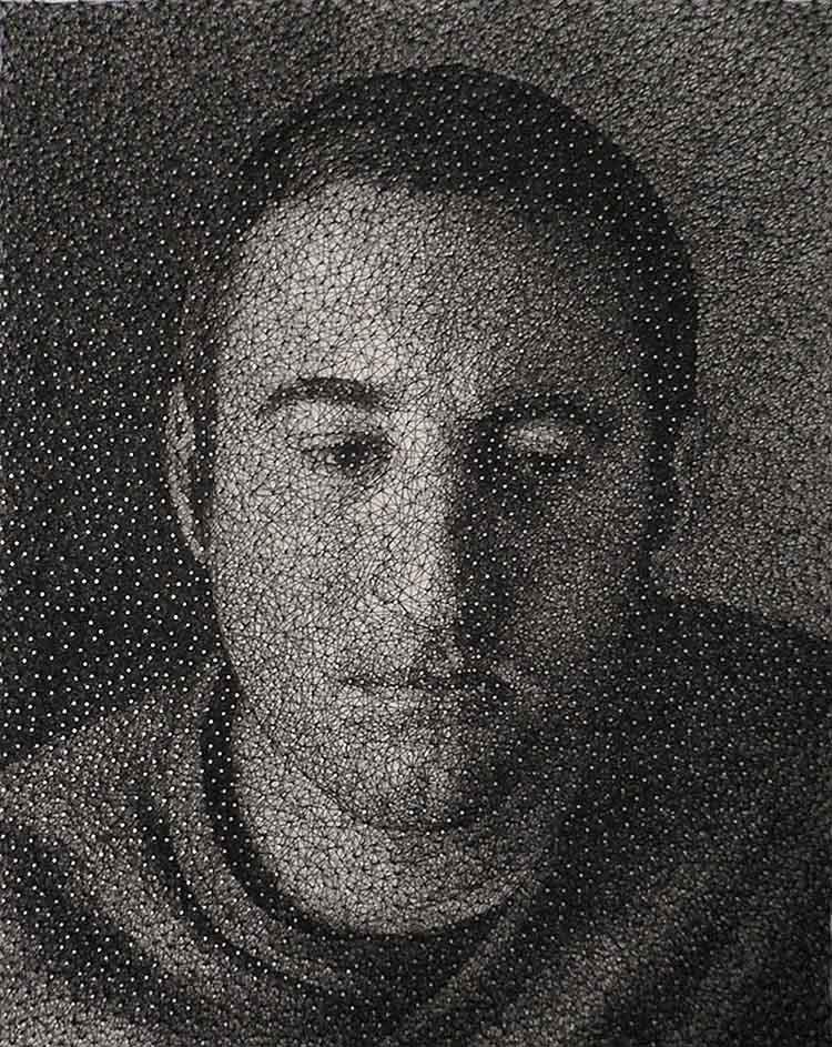 Shadow Art Thread Portrait Man