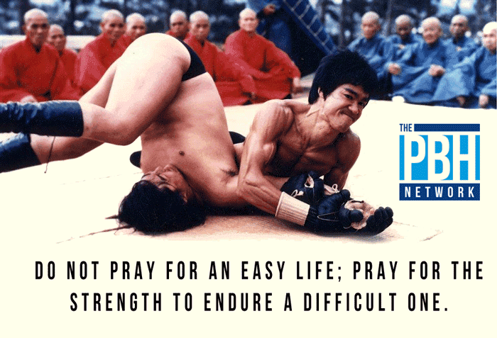Bruce Lee On Enduring A Difficult LIfe
