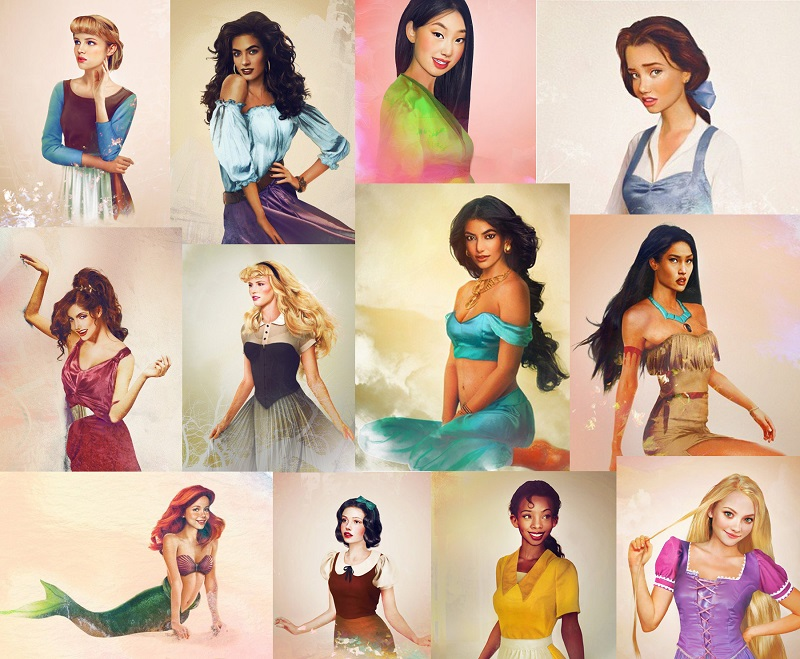 Disney Princesses in Real Life