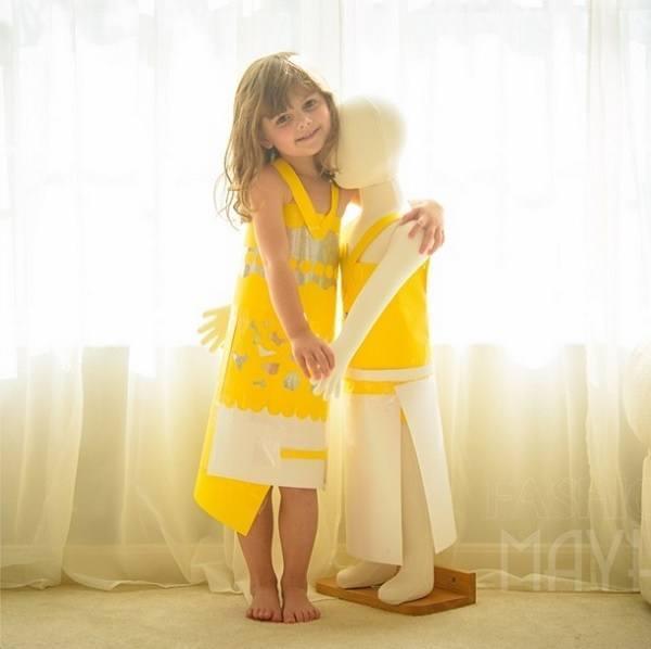 Yellow Dress 4-year-old Mayhem
