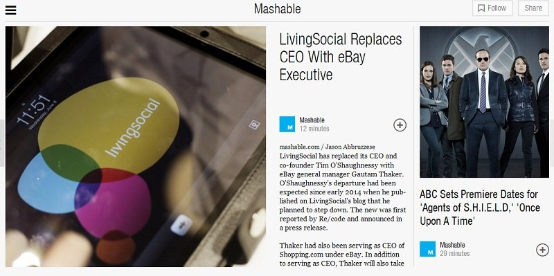 Mashable on Flipboard