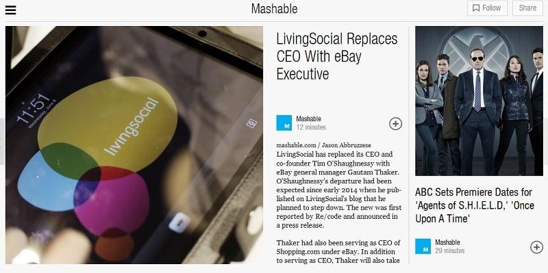 Mashable on Flipboard