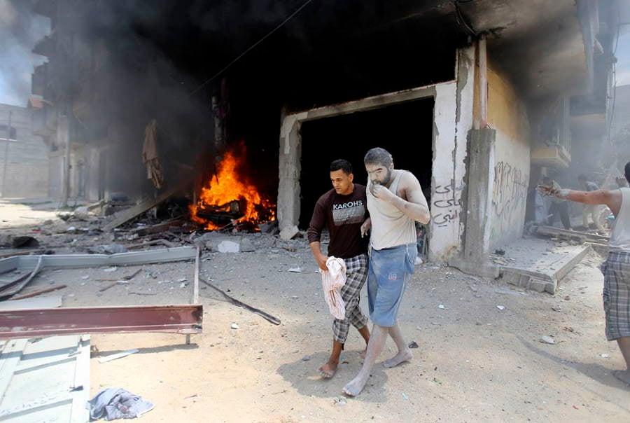 Gaza Man Soot