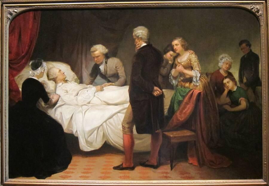 George Washington On His Deathbed