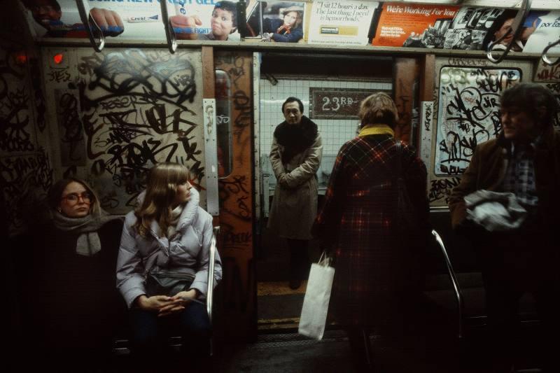 Graffiti In Subway Car