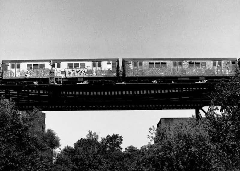 Graffiti Train Cars