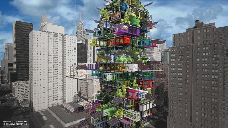 Hive-Inn City Farm New York City