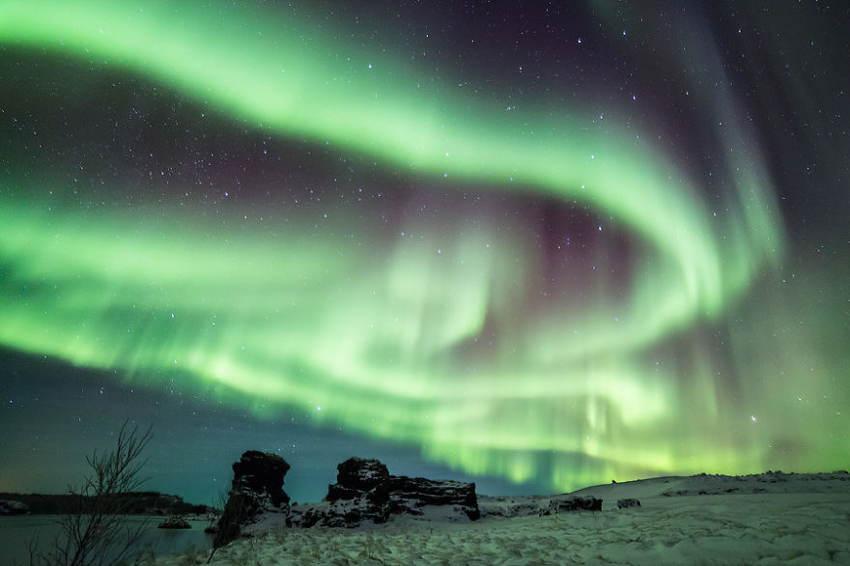 Iceland Winter Aurora Borealis