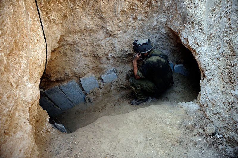 Hiding from Gaza Airstrikes