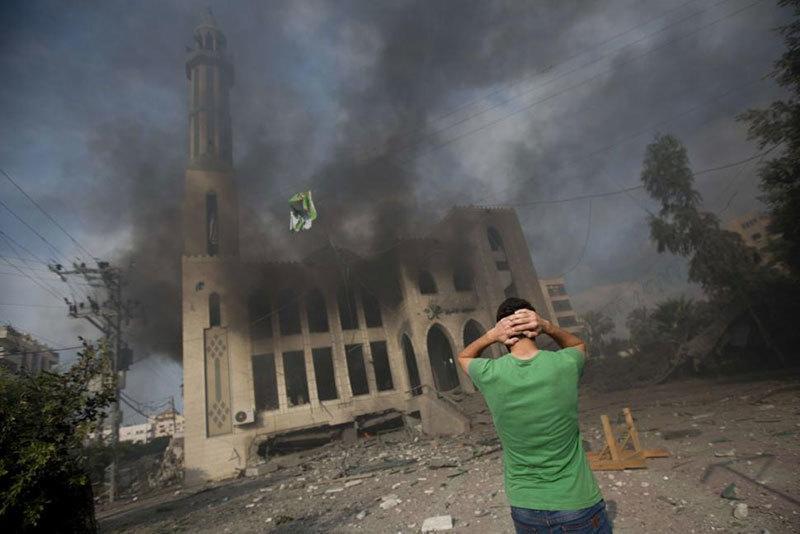 Man Shocked by Gaza Strikes