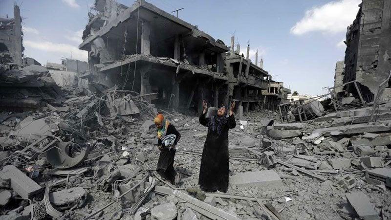 Palestinians Mourn Gaza Airstrikes