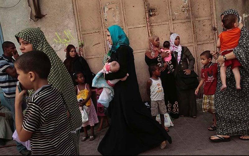 Residents Flee Gaza