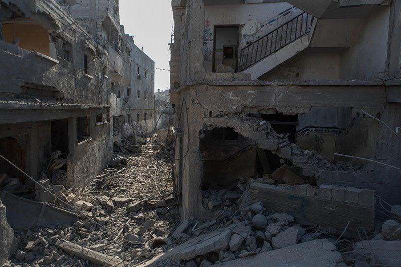 Israel-Gaza Conflict Creates Ruins