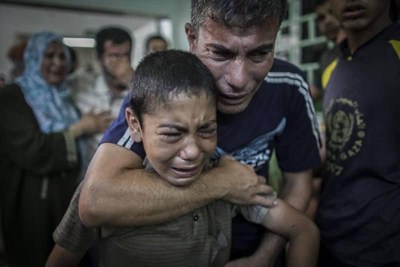 Gaza School Bombed