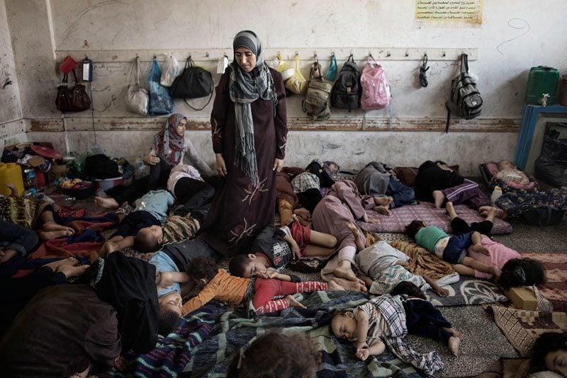 Sleeping Children in Gaza School