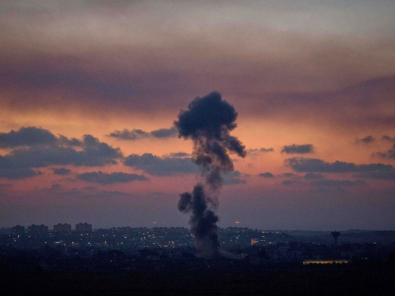 Israeli Bombs at Sunset