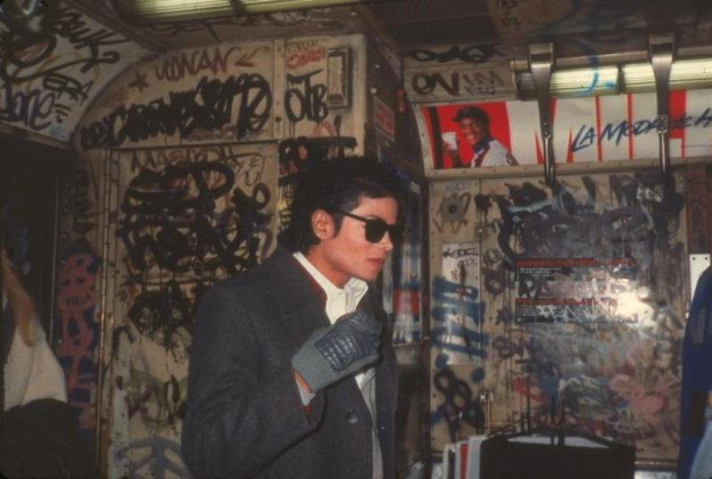 Michael Jackson Takes A Subway Ride
