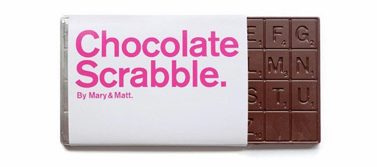 Strange Candies Chocolate Scrabble