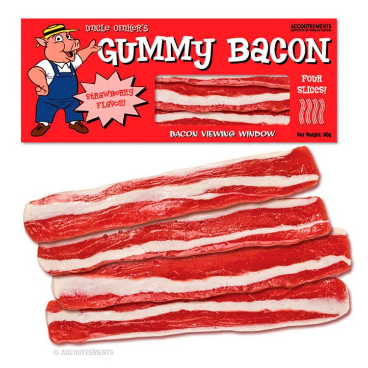 Strange Candies Gummy Bacon