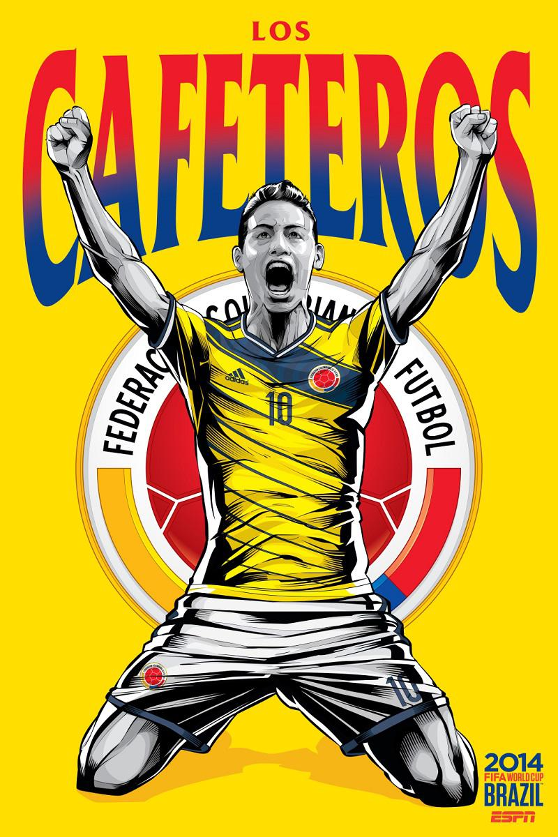 Colombia Poster ESPN World Cup