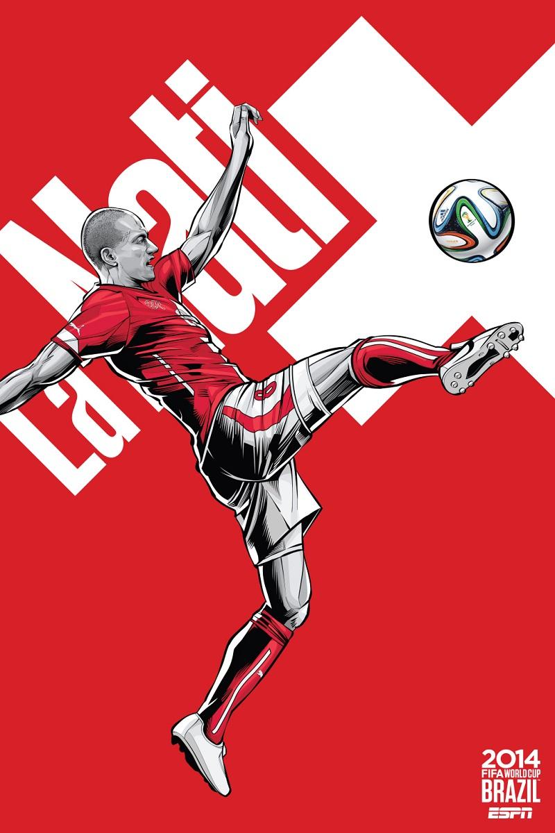 Switzerland World Cup Poster