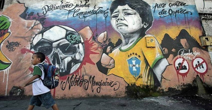 World Cup Dark Side Street Art Protests