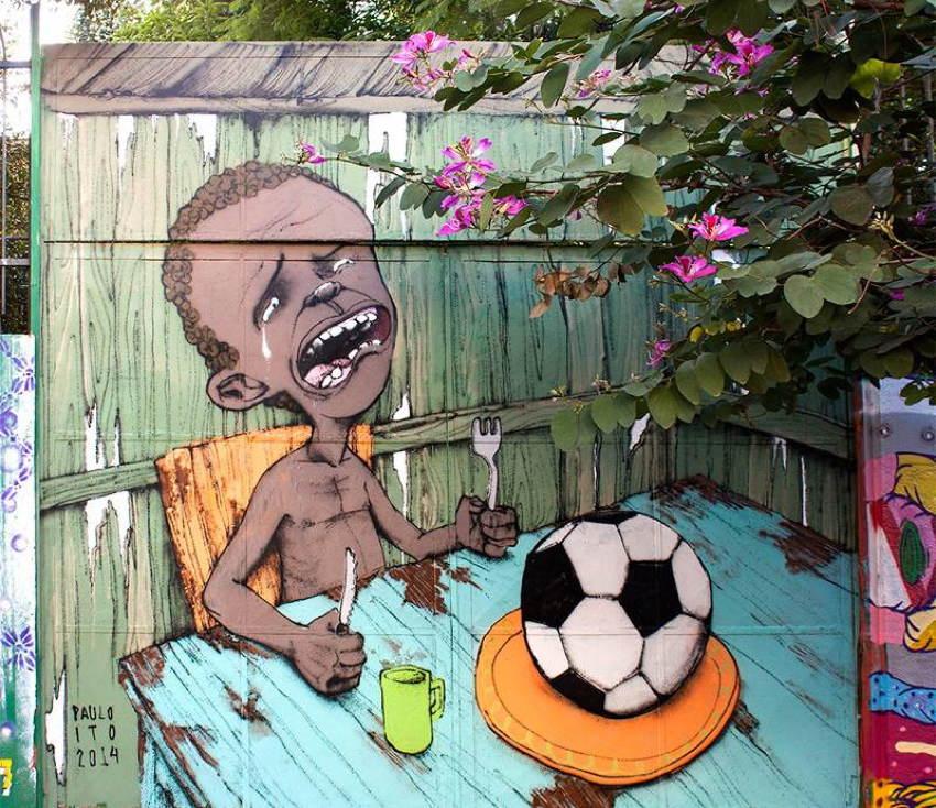 World Cup Dark Side Street Art