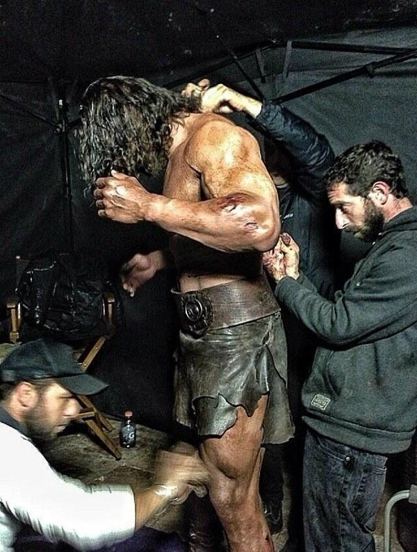 Dwayne Johnson Behind the Scenes at Hercules