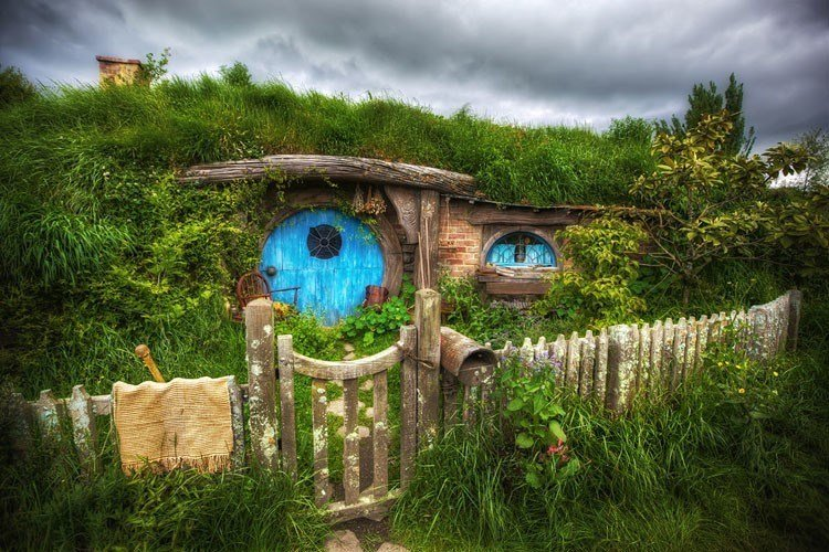 Hobbit Home Blue Door