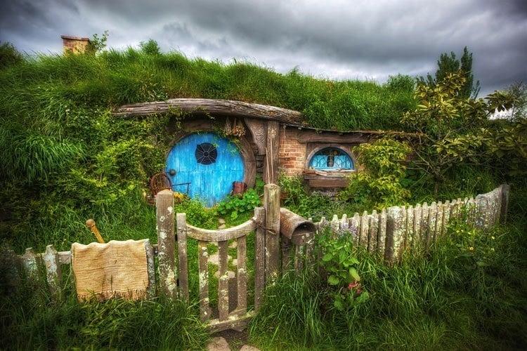 Hobbit Home Blue Door
