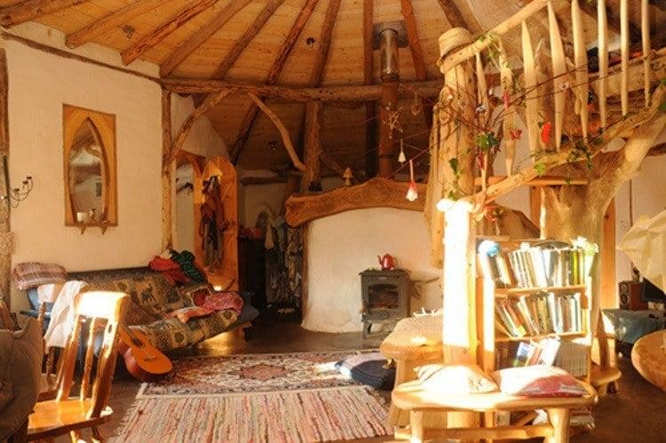 Hobbit Home Lit Up Living Space