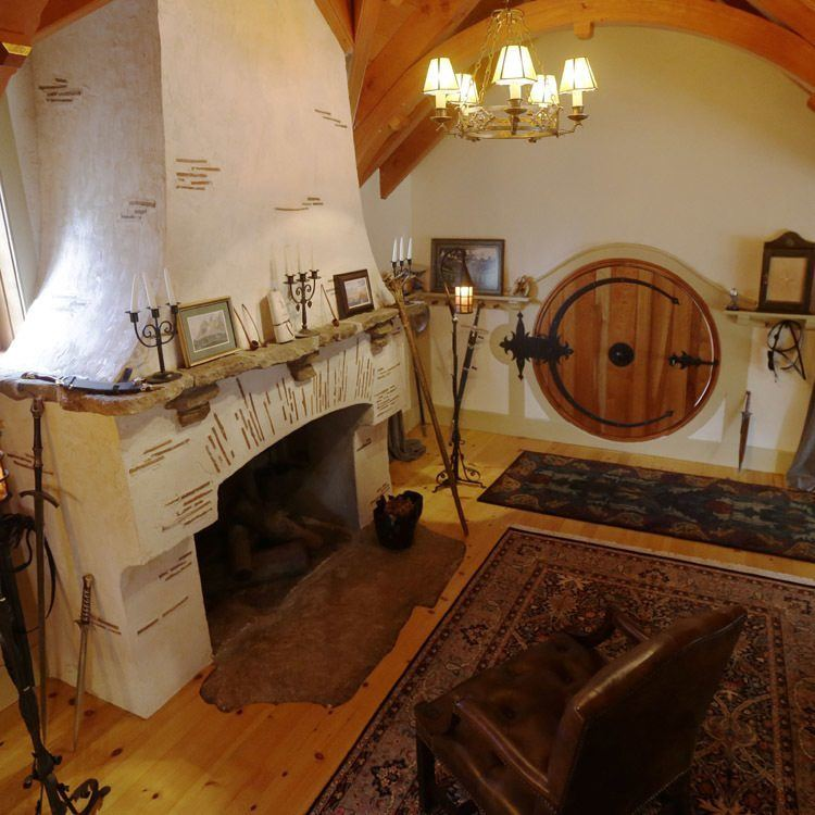 Hobbit Homes White Fireplace